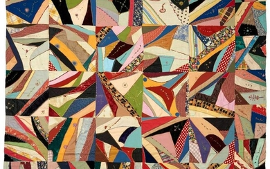 American Signed Crazy Quilt
