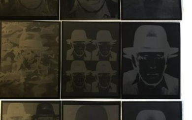 Andy Warhol - Nine negative prints Joseph Beuys for
