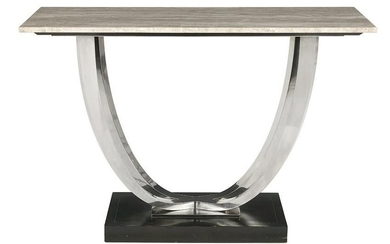 Art Deco-Style Marble-Top Console Table