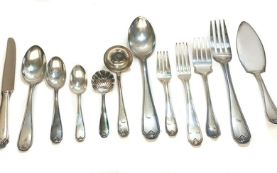 Buccellati Silverplate Flatware Set for 12 in Piedmont
