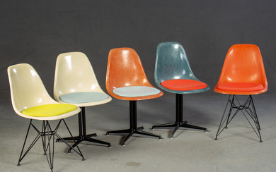 Charles & Ray Eames, side chairs for Herman Miller / Vitra (5)