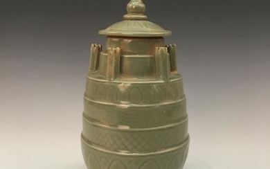 Chinese Longquan Kiln Jar and Cover
