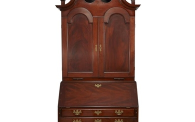 Chippendale carved mahogany secretary bookcase Philadelphia, PA, circa 1780...