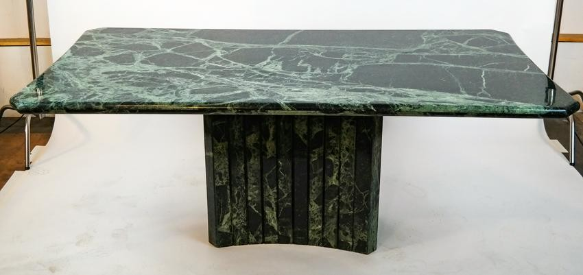 Contemporary Marble Top Table by Pace