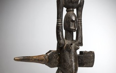 DOGON, Mali. Lock of exceptional size representing a...