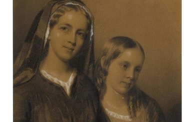 EASTMAN JOHNSON | PORTRAIT OF THE ARTIST'S SISTERS JUDITH AND HARRIET