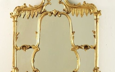 ENGLISH GILTWOOD CHINESE CHIPPENDALE MIRROR