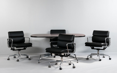Eames Aluminum Group for Herman Miller Table and Four Chairs