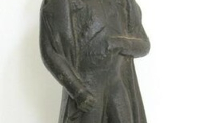 Early cast iron figure of Napoleon.