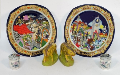 "Eleven Rosenthal Winblad ""New Year"" plates, together..."