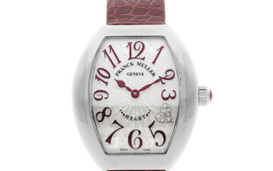 FRANCK MULLER | Heart, A NEW OLD STOCK STAINLESS STEEL WRISTWATCH with Diamond-Set Heart on Dial, CIRCA 2019