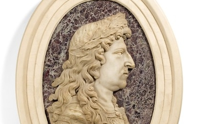 FRENCH, 18TH CENTURY   PROFILE RELIEF WITH LOUIS XIV