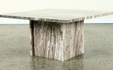 FRENCH MID CENTURY MODERN MARBLE COFFEE TABLE