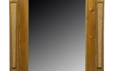 FRENCH PINE FRAMED MIRROR