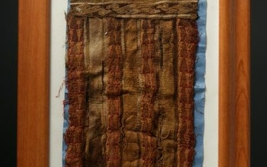 Framed Pre-Columbian Textile Panel - Chimu