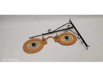 Hand painted metal Opticians hanging advertising sign {71 cm...