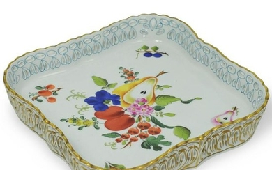 Herend Painted Porcelain Square Dish