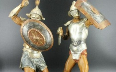 Italian Carved Wood Gladiators
