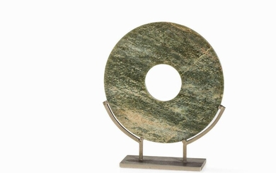 Jade BI disc in Archaistic style, Qing Dynasty | Jade BI Scheibe im Archaistischen Stil, Qing-Dynastie