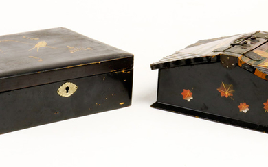 Japanese Lacquered Covered Boxes