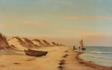 Johan Neumann: View from Blokhus. Signed and dated Johannes Neumann 1919. Oil on canvas. 41.5...