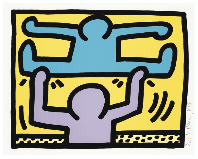 KEITH HARING (1958-1990), Pop Shop I: one print