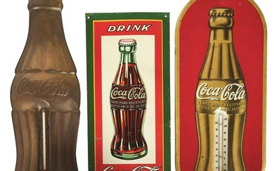 LOT OF 3: COCA-COLA ADVERTISING ITEMS.
