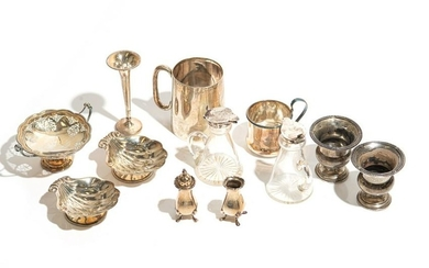 LOT OF ASSORTED SILVER HOLLOWWARE 593g