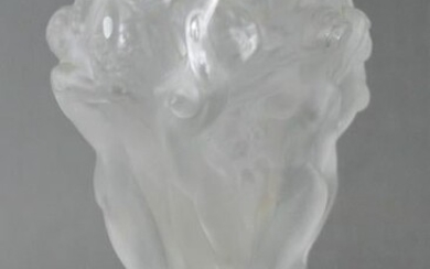 Lalique Frosted Glass Vase