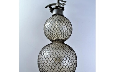Late Victorian gazogenes bottle. Gazogene is a Victorian dev...