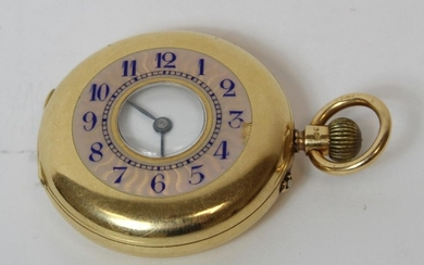Lever watch, unsigned, three quarter plate with compensated ...