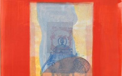 Michael David, Red from the Being Series, Lithograph
