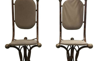 Mid-Century Modern Bentwood Style Accent Chairs