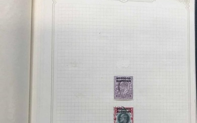 OVERPRINTS ON GB ISSUES: Two small albums with the mint and ...