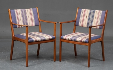 Ole Wanscher. Pair of mahogany lounge chairs, Model PJ 412 (2)