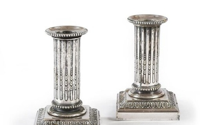 PAIR OF SMALL CANDLE HOLDERS.
