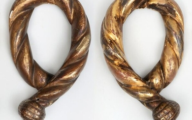 Pair of 18th/19th century gilt and gesso carved wood