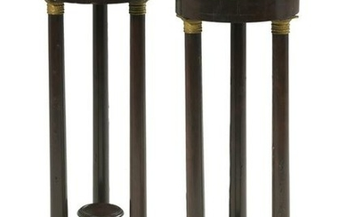 Pair of Empire-Style Bronze-Mounted Pedestals