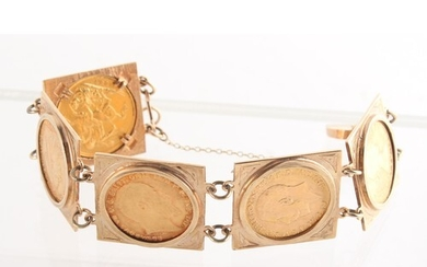 Property of a lady - a 9ct gold square textured bark effect ...