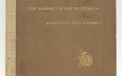 RUSSELL N.Y USA BERNE TREATY HARD BOUND VOLUME 1898 THE BARONET THE BUTTERFLY J.MCNEIL WHISTLER