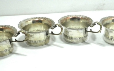 Set of 4 Old Cup Holders made of 800 Silver