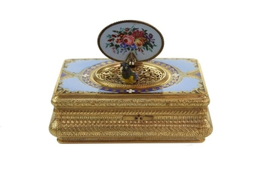 Silver Gilt and Enamel Bird Box, Charles Bruguier