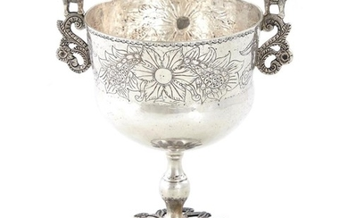 South American silver chalice