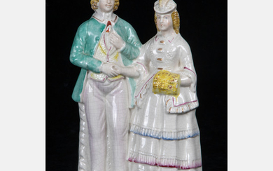 Staffordshire Pottery Figural Group