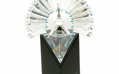 """Swarovski Limited Edition Crystal """"The Peacock"""", Number"""