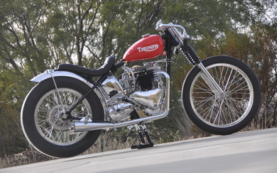 The ex-Bobby Sirkegian, 1953 Triumph 650cc Drag Racing Motorcycle