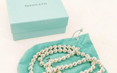 Tiffany & Co. Sterling Ball Bead Necklace 30''.