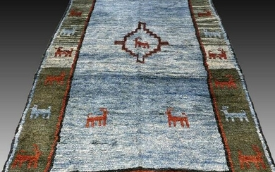 Tribal Gabbeh rug - 8.5 x 4.1 - unused