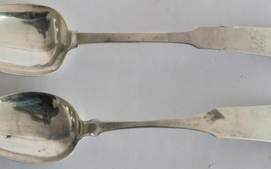 Two Antique Southern Coin Silver Spoons
