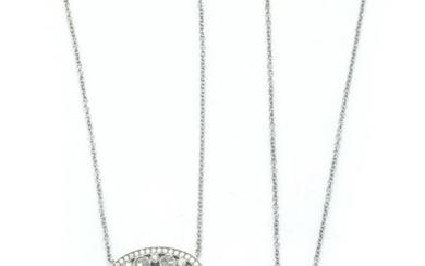 Two Platinum and Diamond Pendant-Necklaces, Tiffany & Co.